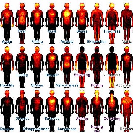 Karte der Körpergefühle